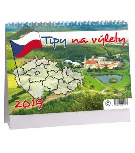 Stolní kalendář Tipy na výlet 2019