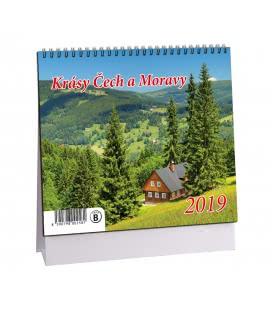 Stolní kalendář Krásy Čech a Moravy 2019