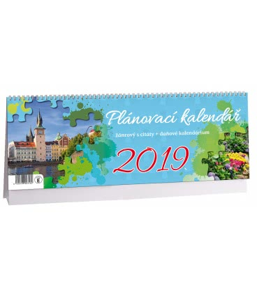 Table calendar Žánrový plánovací s citáty 2019