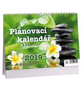 Stolní kalendář Plánovací s citáty 1 (zelený) 2019