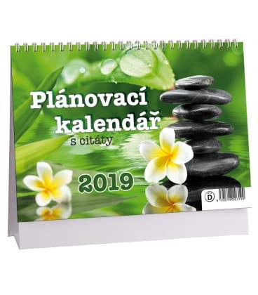 Table calendar Plánovací s citáty 1 2019