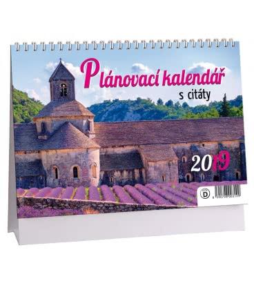 Stolní kalendář Plánovací s citáty 2 (fialový) 2019