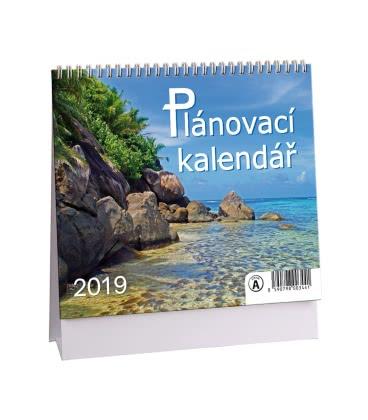 Stolní kalendář Plánovací MINI 2019