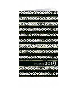 Pocket diary fortnightly lamino - Černá - Bílá 2019