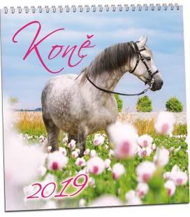 Nástěnný kalendář Koně 2019