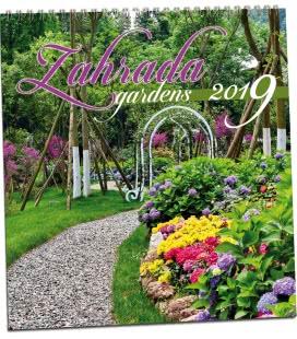Nástěnný kalendář Zahrady 2019