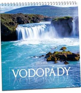 Nástěnný kalendář Vodopády 2019