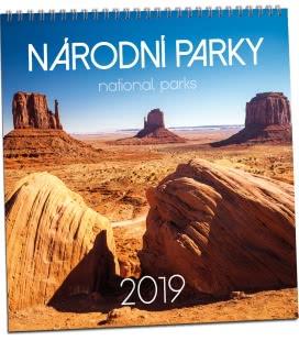 Nástěnný kalendář Národní parky 2019