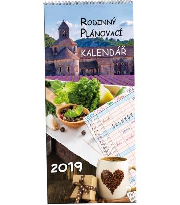 Nástěnný kalendář Rodinný plánovací 1 - Obrázky 2019