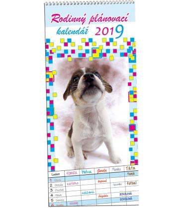 Nástěnný kalendář Rodinný plánovací 2 - Mazlíčci 2019