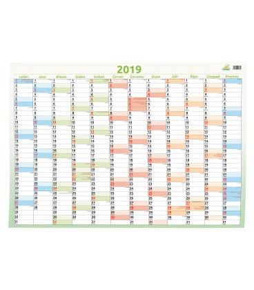 Nástěnný kalendář Plakát mapový 69 x 47,5 cm 2019