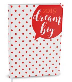 Diář denní B6 - Adam - lamino Tečky 2019