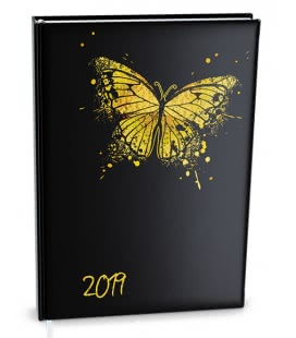 Diář denní B6 - Adam - lamino Motýl 2019