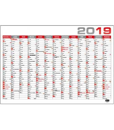 Wall calendar Nástěnný kalendář roční B1 - červený 2019