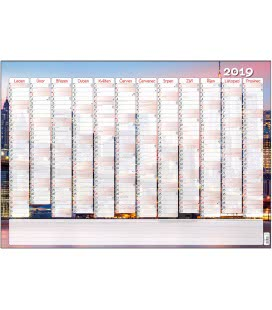 Nástěnný kalendář roční B1 - Město 2019