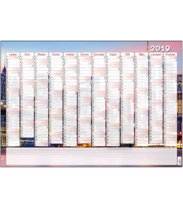 Wall calendar Nástěnný kalendář roční B1 - Město 2019