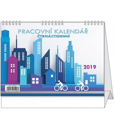 Stolní kalendář Pracovní čtrnáctidenní 2019