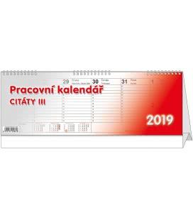 Stolní kalendář Citáty III. 2019
