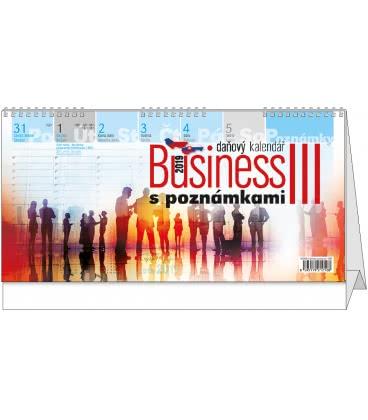 Table calendar Business III. s poznámkami 2019