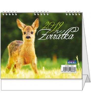 Stolní kalendář IDEÁL - Zvířátka 2019