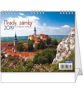 Stolní kalendář IDEÁL - Hrady, zámky a památky ČR 2019