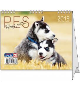 Stolní kalendář IDEÁL - Pes, věrný přítel 2019