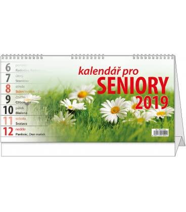Table calendar Kalendář pro seniory 2019