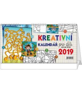 Stolní kalendář Kreativní kalendář pro děti 2019