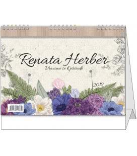 Tischkalender Renata Herber - Vracíme se k přírodě 2019