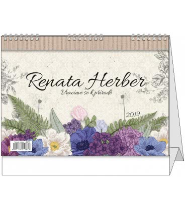 Stolní kalendář Renata Herber - Vracíme se k přírodě 2019