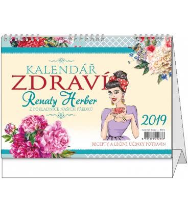 Table calendar Kalendář zdraví Renaty Herber 2019