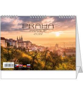 Table calendar Praha 2019