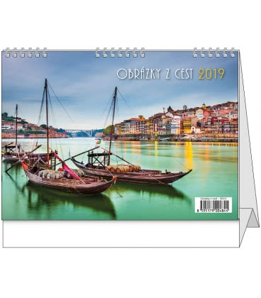 Table calendar Obrázky z cest 2019