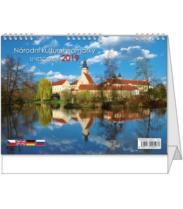 Stolní kalendář Národní kulturní památky ČR - UNESCO 2019