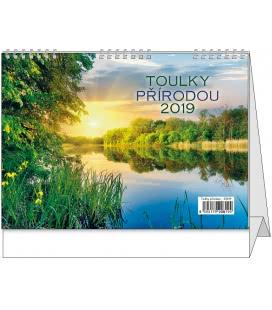 Stolní kalendář Toulky přírodou 2019