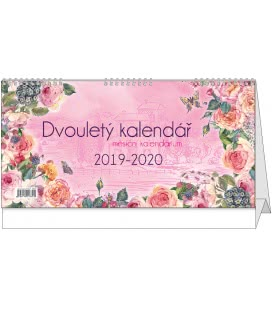 Stolní kalendář Dvouletý kalendář s měsíčním kalendáriem 2019/2020 2019