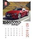 Nástěnný kalendář Superauto - A3 2019