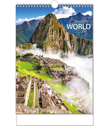 Wall calendar Beautiful world 2019