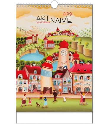 Nástěnný kalendář Art Naive - Sylva Prchlíková - A3 2019