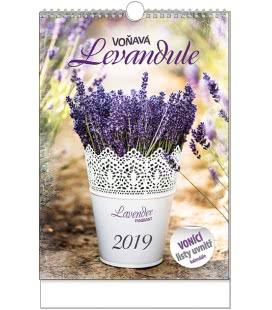 Nástěnný kalendář Voňavý kalendář - Voňavá levandule - A3 2019