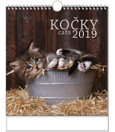 Nástěnný kalendář IDEÁL - Kočky 2019