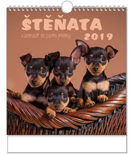 Nástěnný kalendář IDEÁL - Štěňata 2019