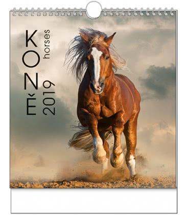 Nástěnný kalendář IDEÁL - Koně 2019