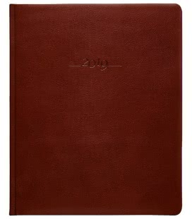 Leather diary Prezident weekly Carus brown 2019