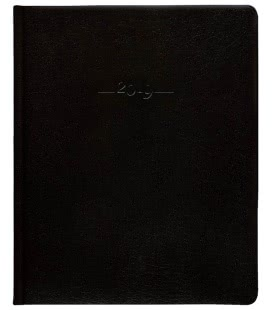 Leather diary Prezident weekly Carus black 2019