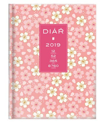 Weekly Pocket Diary Lady Floral 2019