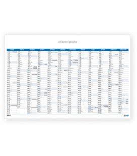 Nástěnný kalendář Mapový plakát modrý 2019