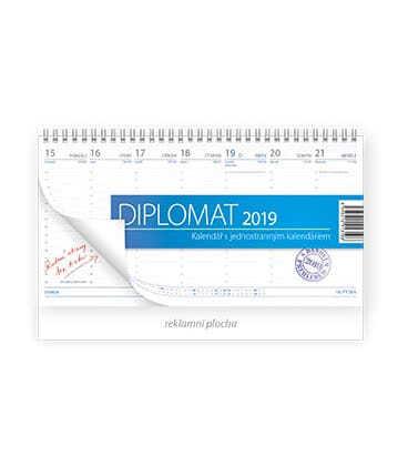 Stolní kalendář Diplomat 2019