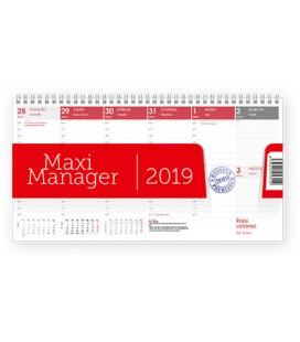 Stolní kalendář Maximanager červený 2019