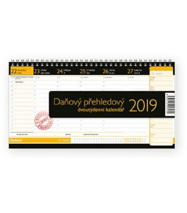 Stolní kalendář Daňový přehledový 2019